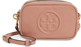 Tory Burch Perry Bombe Leather Crossbody Bag