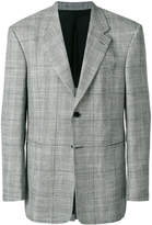 Versace checked oversized blazer