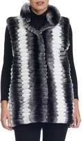 Gorski Detachable-Sleeve Fur Coat