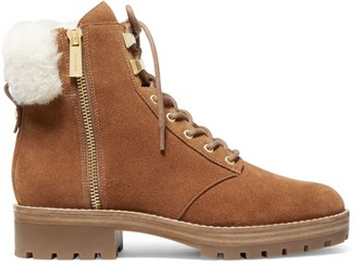 MICHAEL Michael Kors Rosario Shearling-Lined Suede Hiking Boots