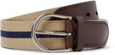 Dunhill 3.5cm Leather-Trimmed Webbing Belt