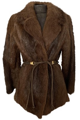 Non Signé / Unsigned Non Signe / Unsigned Brown Fur Jacket for Women Vintage