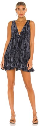 Free People Pleated Plush Swing Dress