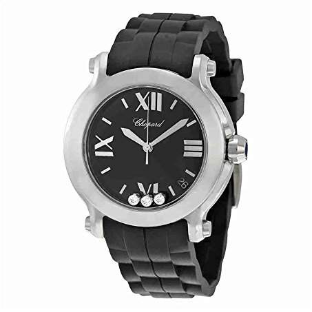 Chopard Women's 278475-3014 Happy Sport Round Diamond Dial Watch