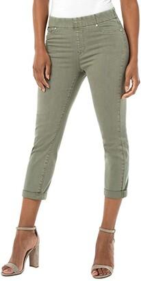 Liverpool Chloe Crop Rolled Cuff in Saguaro Palm (Saguaro Palm) Women's Jeans