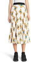 Christopher Kane Women's Flower Print Midi Skirt