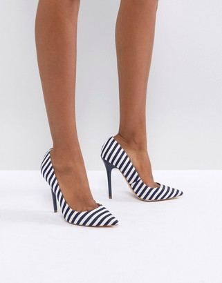 Office On Tops Striped Pumps-Multi