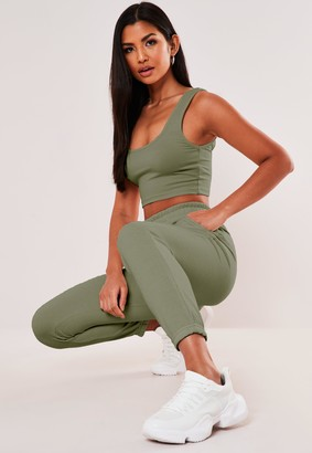 Missguided Khaki Basic Joggers