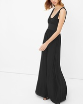 White House Black Market Genius Chiffon Convertible Black Gown