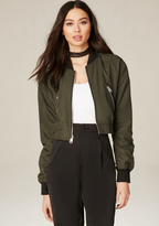 Bebe Olive Bomber Jacket