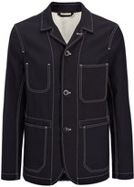 Joseph Seersucker Albury Jacket in Navy