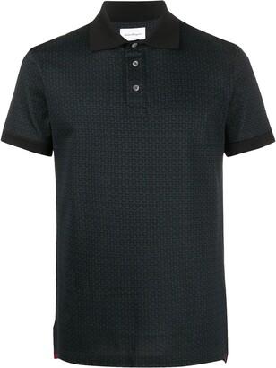 Salvatore Ferragamo Gancini motif polo shirt