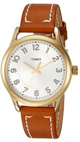 Timex New England Leather Strap Watches
