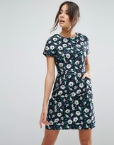 Yumi Jacquard A Line Dress In Floral Print