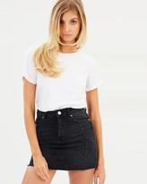 Miss Selfridge Diamante Denim Skirt