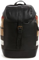 Burberry Drifton Leather & Canvas Backpack