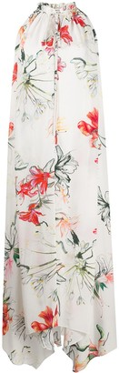 Alexander McQueen Endangered Flower print sleeveless dress