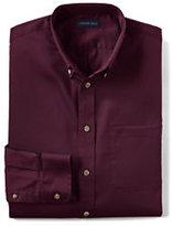 Classic Men's Long Sleeve Performance Twill Shirt-Burgundy