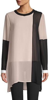 Calvin Klein Colorblock Long-Sleeve Tunic