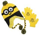 Universal Kids' Minions Peruvian Hat and Glove Set - Yellow