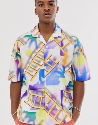 Noak all over print landscape shirt-Multi