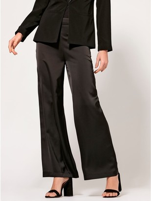 M&Co Wide leg satin trousers