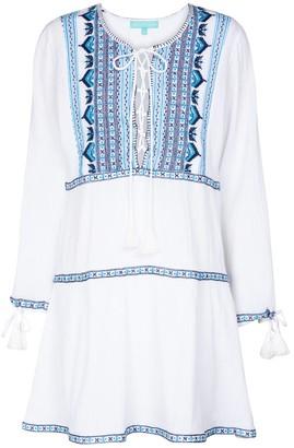 Melissa Odabash Millie embroidered cotton minidress