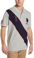 U.S. Polo Assn. Men's Solid Polo Shirt with Contrast Color Piecing