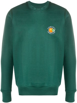 Casablanca Orange Tennis Club sweatshirt