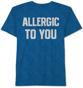 JEM Men's Allergic To You Knit Graphic-Print T-Shirt