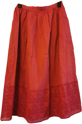 Cacharel Red Cotton Skirts