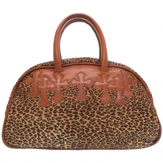 Chrome Hearts Brown Leather Handbags