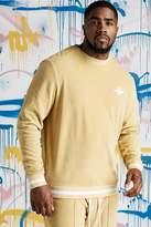 BoohooMAN Big & Tall Quavo Velour Sweater With Rib