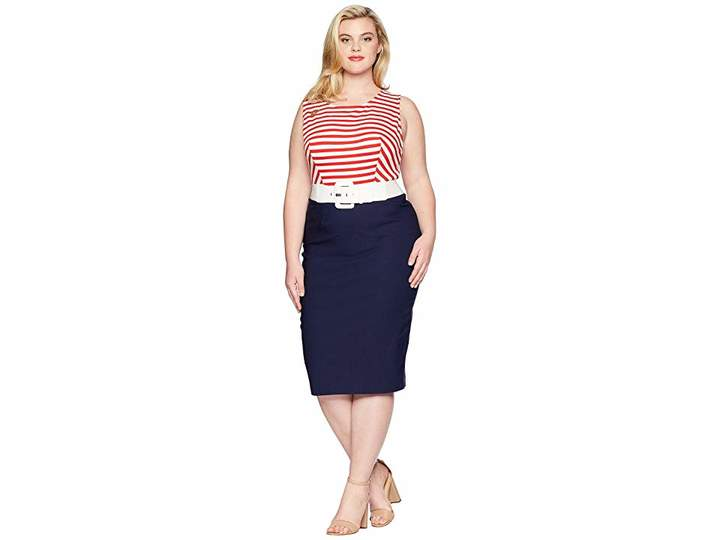 Unique Vintage Plus Size Barbie x UV Cruise Stripes Dress