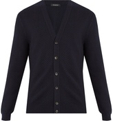 Ermenegildo Zegna Zigzag-knit wool and cashmere blend cardigan