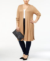 INC International Concepts Plus Size Open-Front Duster Cardigan, Created for Macy's