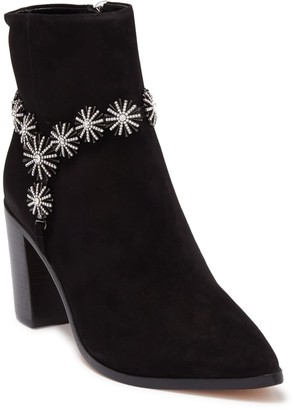 Schutz Teia Embellished Suede Ankle Boot