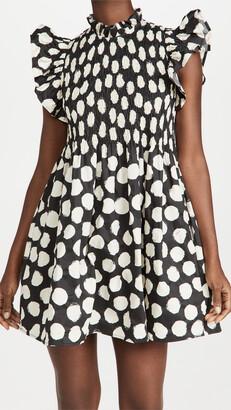 Sea Arline Polka Dot Smocked Dress