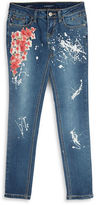 Vigoss Girls 7-16 Floral Jeans