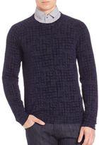 Giorgio Armani Tonal Printed Sweater