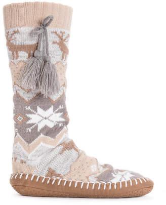 Muk Luks Women Slipper Socks with Tassels