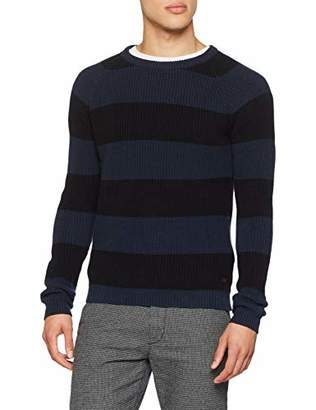 Solid !Solid Men's 6182614 Crew Neck Long Sleeve Jumper - Blue - Small