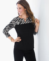 Chico's Zebra Chic Printed Top