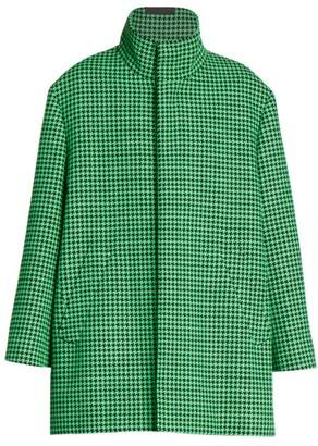 Balenciaga A-Line Houndstooth Coat