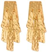 Josie Natori Hammered Gold Waterfall Earrings