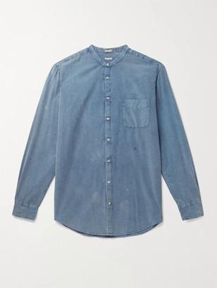 Massimo Alba Noto2 Mandarin-Collar Embroidered Cotton-Corduroy Shirt