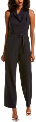 Donna Ricco Belted Jumpsuit