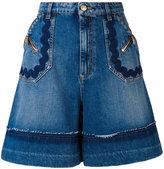 Sonia Rykiel denim shorts - women - Cotton/Lyocell - 36