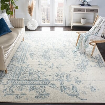 Trent Austin Design Heer Oriental Ivory Cream Area Rug Rug Size Round 5 3 Shopstyle