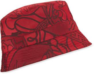Versace Men's Tonal Pattern Bucket Hat